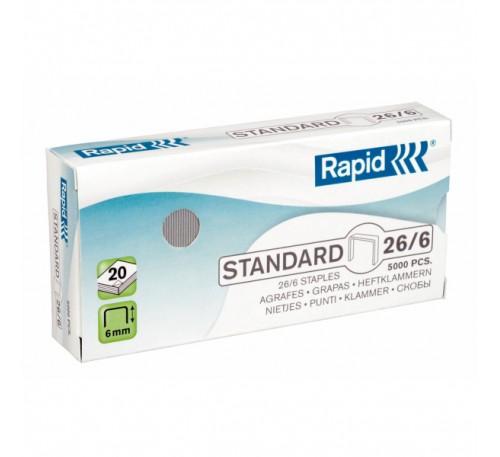 Скобы 26/6 (5000 шт.) для степлера Rapid