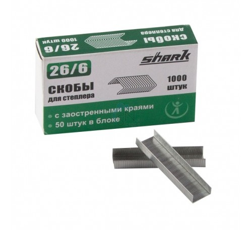 Скобы для степлера Shark 66/6 HQ-сталь (1уп.-5000шт.)